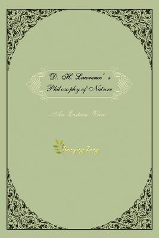 Boek cover D.H.Lawrences Philosophy of Nature van Dr. Tianying Zang (Paperback)