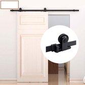 Schuifdeur systeem  - Schuifdeurbeslag - Mat zwart met hangrollen boven op -