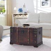 vidaXL Schatkist vintage 66x38x40 cm hout