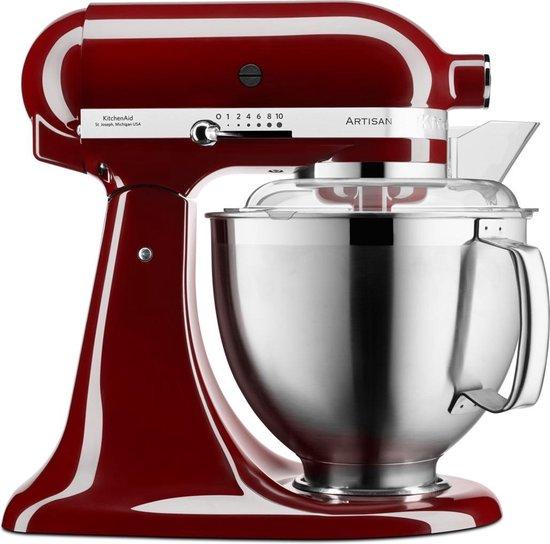 Kitchenaid Artisan keukenrobot 4.8L 5KSM185PS bordeaux rood