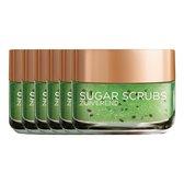 L'Oréal Paris Skin Expert Sugar Scrub - Zuiverend - Kiwi - 6 Stuks - Voordeelverpakking