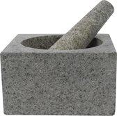 Cosy&Trendy Vijzel met stamper graniet - 14 cm x 8 cm