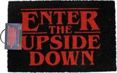 Netflix Stranger Things Enter The Upside Down Deurmat Doormat Zwart / Rood