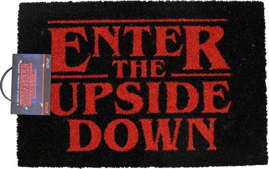 Netflix Stranger Things Enter The Upside Down Deurmat Doormat Zwart / Rood