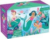 Glitter Puzzel – Zeemeerminnen 100stuks| Mudpuppy