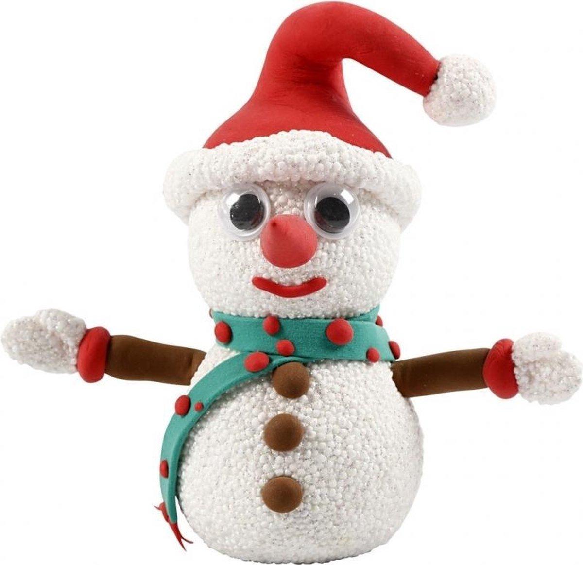 Kerst Knutselset sneeuwpop van klei
