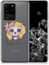 Samsung Galaxy S20 Ultra Silicone Back Case Boho Skull