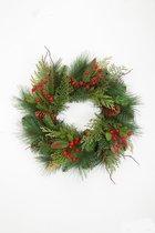 Viv! Home Luxuries Kerstkrans - groen rood - 30cm - topkwaliteit
