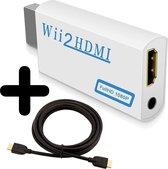 Wii naar HDMI Adapter Converter 1080p Full HD Kwaliteit Met HDMI Kabel