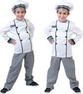 Eten & Drinken Kostuum   Chef Kok Jonnie Smikkel Kind Kostuum   Maat 128   Carnaval kostuum   Verkleedkleding
