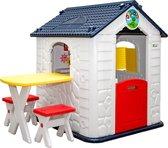Kinderspeelhuisje met Tafel 1 Jaar Kinder Tuinhuisje Binnen Speelhuis Kunststof