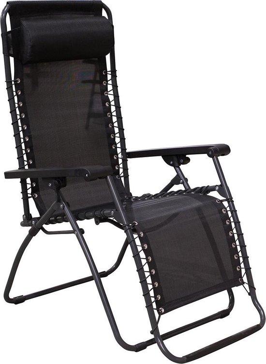 Redwood Relaxstoel Classic - relaxstoelen - inklapbaar - Zwart