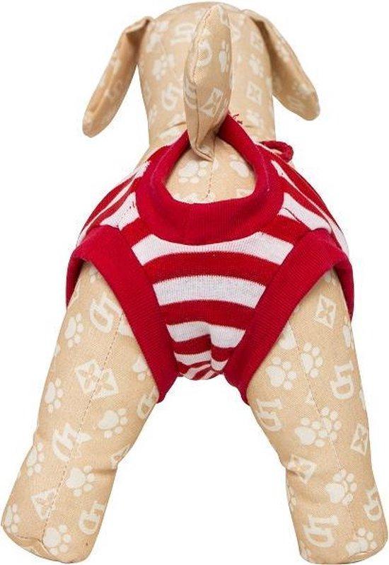 Loopsheidbroekje - rood gestreept - maat M-Animal King