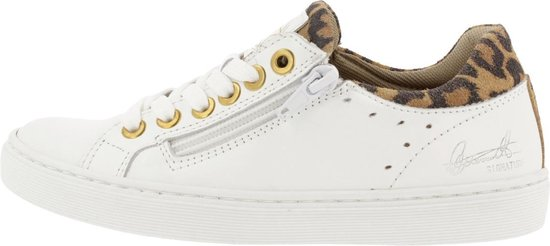 Bullboxer Ahm024E5L_ Sneaker Kids White/Leopard 35