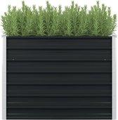 Plantenbak verhoogd - 100x100x77 cm - Gegalvaniseerd Staal - Antraciet