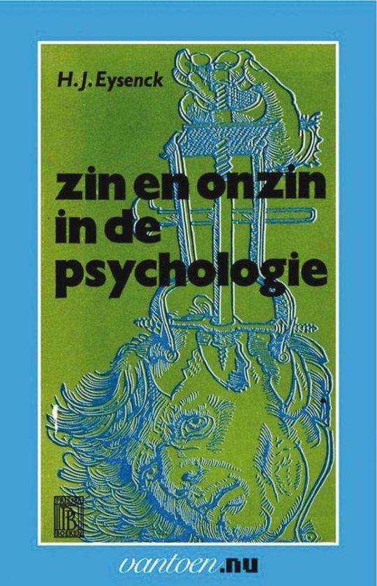 Vantoen.nu - Zin en onzin in de psychologie - Hans Eysenck |