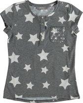 Geisha zacht grijs t-shirt meisje - Maat 164