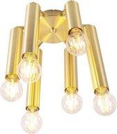 QAZQA facil - Plafondlamp - 6 lichts - Ø 250 mm - Goud/messing
