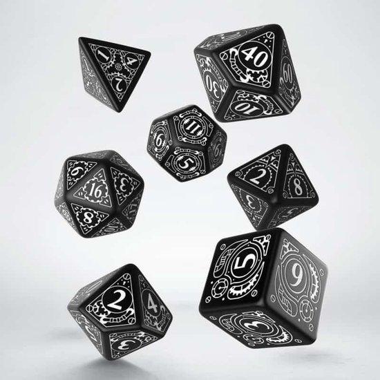 Afbeelding van het spel Steampunk Black & white Dice Set
