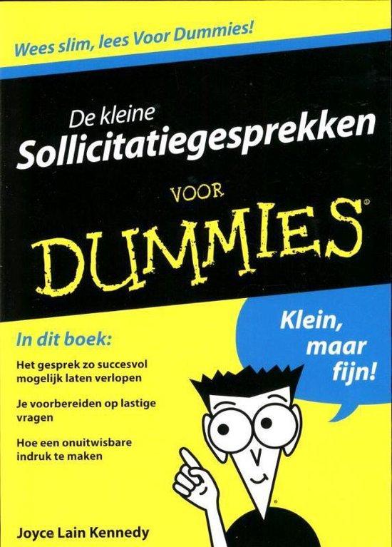 Voor Dummies - De kleine sollicitatiegesprekken voor Dummies - Joyce Lain Kennedy |