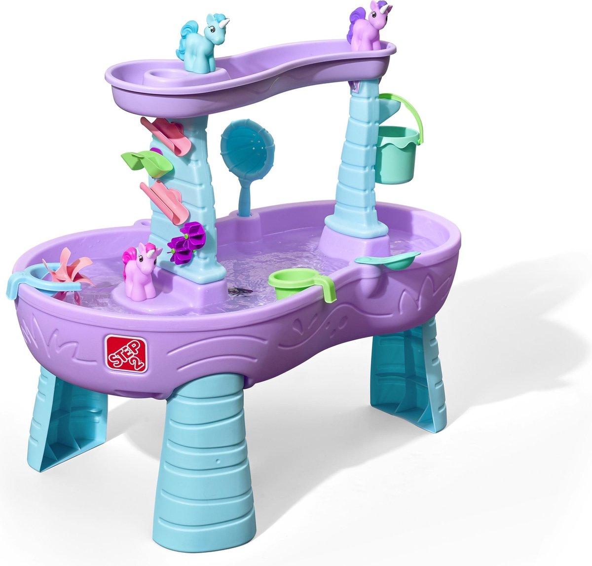 Step 2 watertafel - speeltafel - Eenhoorns - Met waterrad - 18.9 L - Paars