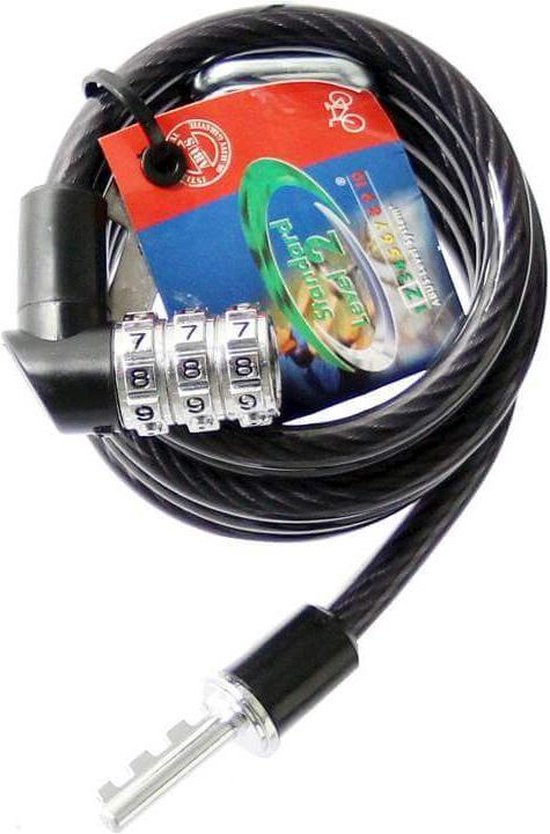 ABUS Kabelslot Spiraal Code 1150/120 Zwart