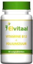 Elvitaal Vitamine B12 1000µ + foliumzuur - 90 Tabletten - Vitaminen