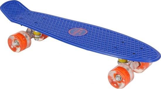 AMIGO skateboard - Met ledverlichting en ABEC 7 lagers - Blauw/Oranje