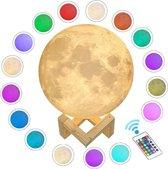 Maanlamp 16 kleuren en dimbaar - nachtlampje en leeslamp - 20 cm