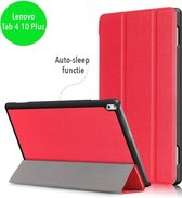 3-Vouw sleepcover hoes - Lenovo Tab 4 10 Plus - rood
