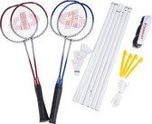 Donnay Badmintonset: Badmintonnet- 4 Badmintonrackets - 3 Badmintonshuttles - met Draagtas