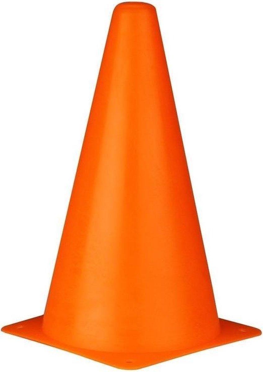 Sport/ taining voetbal pionnen oranje 22 cm - 4 stuks - Sport - veldsporten - training pion/kegel/ac