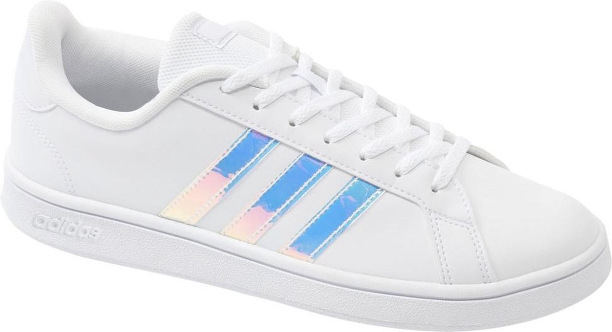 adidas Dames Witte Grand Court Base holografisch - Maat 37 1/3