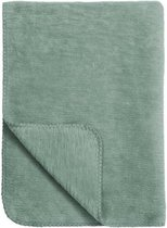 Meyco Uni ledikantdeken - 100x150 cm - Stone green