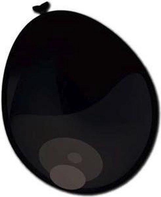 Ballonnen zwart metallic 50 stuks 30 cm
