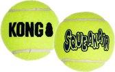 Kong Air Squacker Tennisbal - Hondenspeelgoed - Geel - S - Ø5 cm