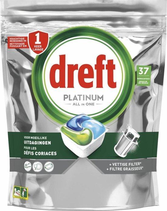 Dreft Original All In One Regular - Voordeelverpakking 4x37 stuks - Vaatwastabletten