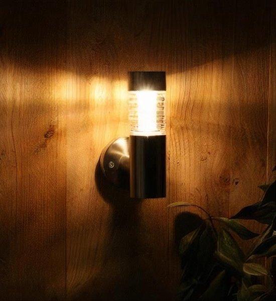 Luxform Wandlamp Tacoma Solar 15,3 X 20,3 Cm Rvs Zilver 2 Stuks - LuxForm