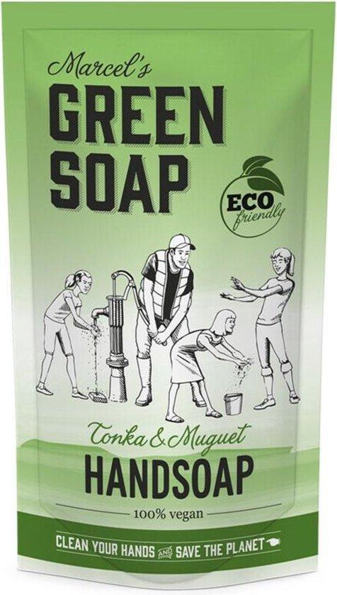 Marcel's Green Soap Handzeep Tonka & Muguet Navul Stazak 500 ml