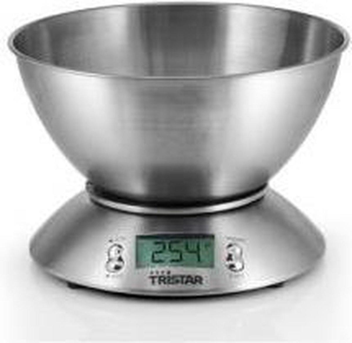 Tristar KW-2436 Keukenweegschaal   Tot 5 kg   RVS