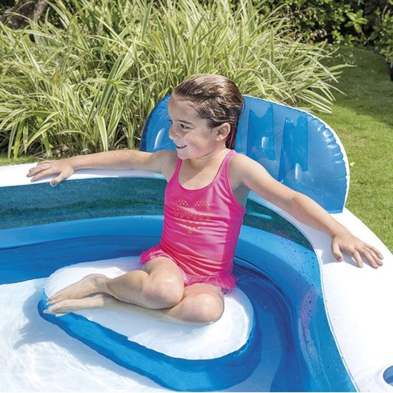 Intex Family Lounge Pool 229 x 229 x 66 cm - Opblaasbaarzwembad