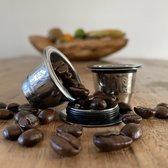 Herbruikbare - Hervulbare Nespresso capsule - 2 stuks - Koffie capsule - cups - RVS