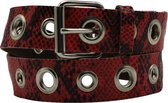 Rode riem - Pitone Melody Red  Dames riem - Broekriem Dames - Dames riem -  Dames riemen - heren riem - heren riemen - riem - riemen - Designer riem - luxe