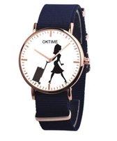 Hidzo Horloge Oktime Reizen Ø 41 - Donkerblauw