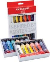 Standard set 12 kleuren 20 ml tubes acrylverf