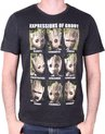 Marvel Guardians of the Galaxy Vol2 Expressions of Groot Black TShirt S