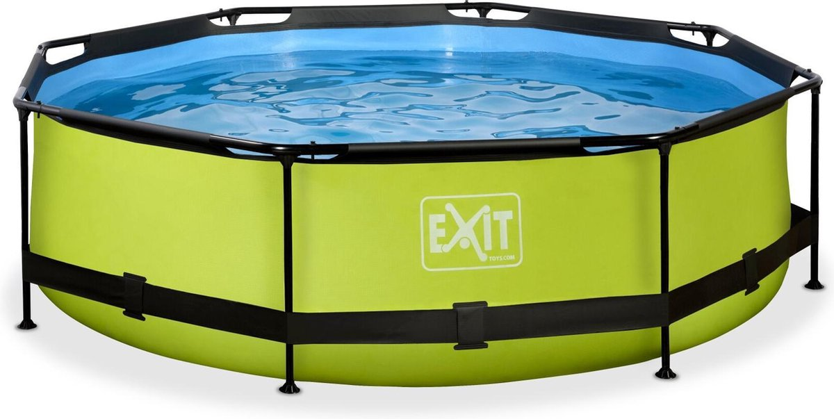 EXIT Lime zwembad ø300x76cm met filterpomp - groen