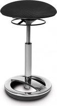 Werkkruk/Verhoogde Bureaustoel - Stof - Zwart - Ergonomisch