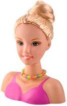 Make-up pop – Sminkpop - Kappop – Kaphoofd - Stylinghoofd met accessoires + make up