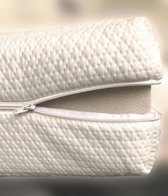 Luxe Matrashoes met Rits - 70x140 - 8-10cm kern - Wit